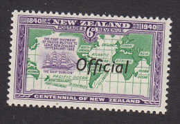 New Zealand, Scott #O83, Mint Never Hinged, Route Of Ship Carrying Frist Shipment Of Mutton Overprinted, Issued 1940 - Officials