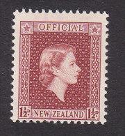 New Zealand, Scott #O101, Mint Never Hinged, Queen Elizabeth II, Issued 1954 - Officials