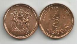 Rhodesia  1/2 Cent  1970. High Grade - Rhodesia