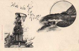 [DC6947] SALUTI DALLA VALLE S. ANDORNO (VERCELLI) - LAGHETTO DI LAMASSA - Viaggiata - Old Postcard - Vercelli