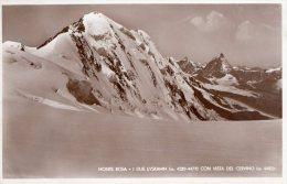 [DC6951] MONTE ROSA (VERCELLI) - I DUE LYSKAMM CON VISTA DEL CERVINO - Old Postcard - Vercelli