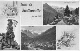 [DC6953] PIEDICAVALLO (VERCELLI) - SALUTI - LA VALLIGIANA - PANORAMA - ENTRATA IN PAESE - Old Postcard - Vercelli