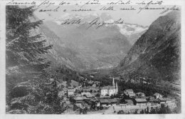 [DC6956] RIVA VALDOBBIA (VERCELLI) - VALSESIA - PANORAMA DI RIVA - ALAGNA E IL MONTE ROSA - Viaggiata 1924 Old Postcard - Vercelli