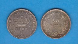 PORTUGAL D. LUIS I (1.861-1.889)  50  REIS  1.888   KM#506.2   T-DL-10.645  Copy - Portugal