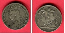 GRANDE GRETAGNE 1 LIVRE 1889 VICTORIA TB 40 - 1816-1901 : Frappes XIX° S.