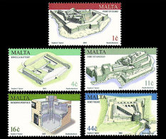 Malta 2003 - Military Architecture Stamp Set Mnh - Architecture