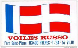 """Sticker Autocollant """" VOILES BRUSSO """" à Port Saint Pierre Hyères 83 Var - Boats"""