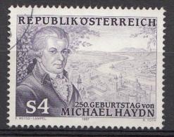 AUTRICHE Mi.nr:1900 Geburtstag Von Michael Haydn 1987 OBLITÉRÉS / USED / GESTEMPELD - 1945-.... 2de Republiek