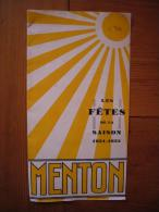 Guide Dépliant Les Fêtes De La Saison Fête Du Citron ? Menton 1931/1932 - Turismo