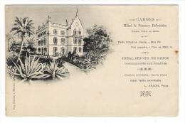 ALPES-MARITIMES  /  CANNES  /  HÔTEL & PENSION  BELVEDÈRE  ( Chemin Prince De Galles , Prop.: L. DAZON )