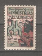 Viñeta De Congreso Nacional De Industrias Metalurgicas De 1913 - España