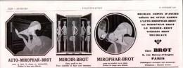Pub.1929 BROT  Miroir-Brot  Mirophar-Brot  Auto-Mirophar-Brot  TBE - Publicités