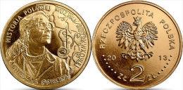 "POLONIA . 2 Zlotes   2013 2.013 ""Agnieszka Osiecka""  SC/UNC  Oro Nordico/Nordic Gold   T-DL-10.647 - Polonia"