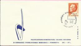 30th Anniversary Of Yugoslav Navy And Marine / Philatelic Exhibition, Rijeka, 16.11.1972., Yugoslavia, Cover - 1945-1992 Socialist Federal Republic Of Yugoslavia