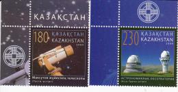 Kazakhstan 646/647 **thema Ruimtevaart,espace, Space - Kazakhstan