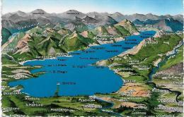 Cartolina Carte Geografiche-lago Di Garda - Maps