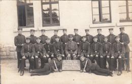 Photocarte Allemande-Militaire Soldats Allemands Baïonnette R.J.R.25. II Comp. VIII Korpr.1918(guerre14-18)2scans - War 1914-18