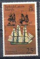 """Turks Et Caicos ; 1976 ; N° Y : 353 ; N** ; """" Frégate """" ;cote Y : 1.50 E. - Bateaux"""