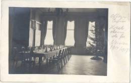 Verviers 1914/17 Offizier Casino Hotel Chemin De Fer Interieur Festtafel Weihnachtsbaum Private Photo Karte Rarement - Verviers