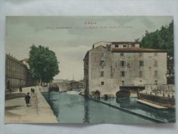 NARBONNE ( 11 )  LE MOULIN DE LA VILLE ET LE CANAL CPA  504 - Narbonne