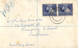 (355) Registered FDC Cover Posted From South Africa To Australia - 1943 - Afrique Du Sud (1961-...)