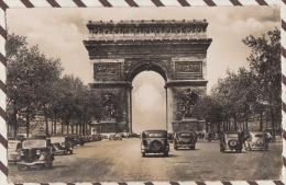 4MA29  PARIS ARC DE TRIOMPHE VOITURES 2 SCANS - PKW