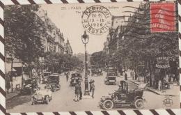 4MA30  PARIS BOULEVARD DES ITALIENS VOITURES 1926 2 SCANS - PKW