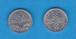 PORTUGAL  10  CENTAVOS  1.974  Aluminio  KM#594   SC/UNC    DL-10.652 - Portugal