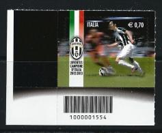 ITALIA  2013 Juventus Campione D´ Italia  2012 / 2013 - Nuovo ** Con CODICE A BARRE - 6. 1946-.. Repubblica