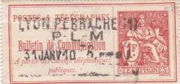 N° 29      POSTES ET TELEGRAPHES  BULLETIN DE COMMUNICATION   COTES  26  € - Timbres