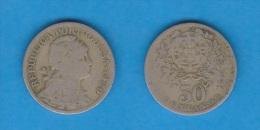 PORTUGAL  50  CENTAVOS  1.929  CU NI  KM#577   BC/MBC  F/VF    DL-10.655 - Portugal
