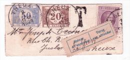 Env Carte De Visite Affr N°197 De LA GLEIZE Pour Theux Taxée TTx 50c+20c +retour + Refusé Pour La Taxe. RR - Taxes