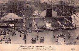 En Champagne..Ruines De La Maison Bissinger..en Avril 1911 - Frankrijk