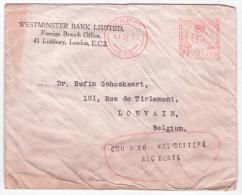 """L. de LONDON/1950 pour Louvain + """"COURRIER HELICOPTERE/ACCIDENTE"""" + au dos C�d """"LIEGE/HELIPOST"""". RRR"""