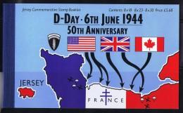 1994  D-Day 50th Ann Complete Booklet  Sc 671a, 673a, 675a, 675b  MNH - Jersey