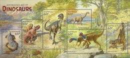 AUS1306s Australia 2013 Dinosaurs s/s