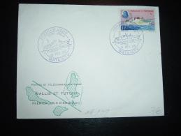 LETTRE TP REINE AMELIA + BATEAU OBL. 15 FEV 65 MATA-UTU PREMIER JOUR REINE AMELIA - Covers & Documents