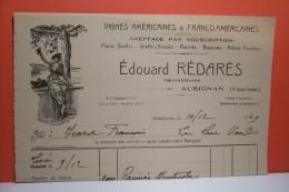 """AUBIGNAN ( Vaucluse ) VIGNES  """" Edouard   Redares """" - Agriculture"""