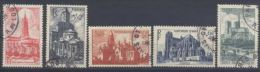 Frankreich, ° (gest., Obl., Used), 1947, Kathedralen Und Kirchen, YT: 772 - 776 / Mi: 773 - 777 - Francia