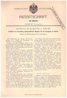 Original Patentschrift - Heinrich Schuberth In Siegen , 1895 , Photographische Negative , Photographie , Photograph !!! - Glasdias