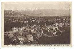 ENVIRONS DE GRENOBLE -VUE GENERALE DE SASSENAGE -ALPES ET LE TAILLEFER -Isère (38) - - Grenoble
