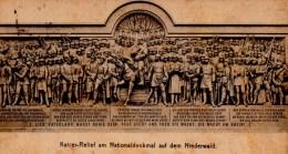NIEDERWALD  Kalser Relief Am Nationaldenkmal  Carte écrite Timbrée - Rheingau