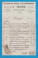 LE GUILVINEC 29 (  FORGE ET SERRURRERIE QUINCAILLERIE CHAUSSURES . . . ) Y OLIVIER  1912  TIMBRE FISCAL - Autres