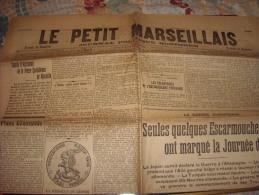 LE PETIT MARSEILLAIS-samedi 15 Août 1914-plans Allemands-quelques Escarmouches - Journaux - Quotidiens