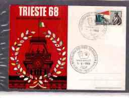 TEM2778    -   TRIESTE  5.10.1968   /     MANIFESTAZ. FILATELICHE CINQUANTENARIO REDENZIONE - Esposizioni Filateliche