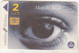 Latvia Old Phonecard - Chip - 2 Lati - 12/2000 - Magiska ACS - Latvia