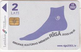 Latvia Old Phonecard - Chip - 2 Lati - 10/2002 - Eiropas Kulturas Menesis Riga 2001 - Latvia