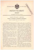 Original Patentschrift -  Marcel Wuillot In Brüssel , 1894 , Elektroden Für Accumulator , Batterie , Blei , Bruxelles !! - Historische Dokumente