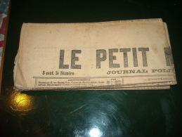 LE PETIT MARSEILLAIS-mois De Janvier 1915-lot De 5 Numéros Originaux - Zeitungen
