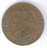 FRANCIA DEUX CENTIMES 1862 NAPOLEON III - Francia